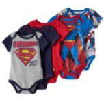 "DC Comics Superman 5-pk. ""Man of Steel"" Bodysuits - Baby Boy"