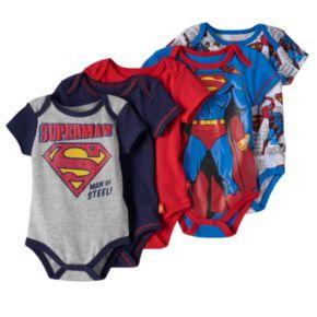 "DC Comics Superman 5-pk. ""Man of Steel"" Bodysuits - Baby Boy"