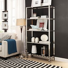 HomeVance Merrick 4-Shelf Wide Bookcase