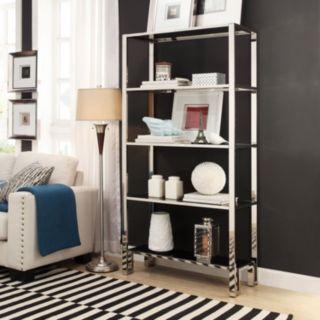 HomeVance Merrick 4-Shelf Wide Bookcase