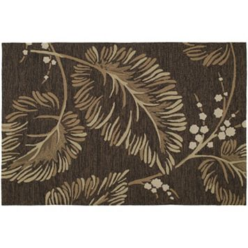 Kaleen Home & Porch Palmyra Leaf Indoor Outdoor Rug