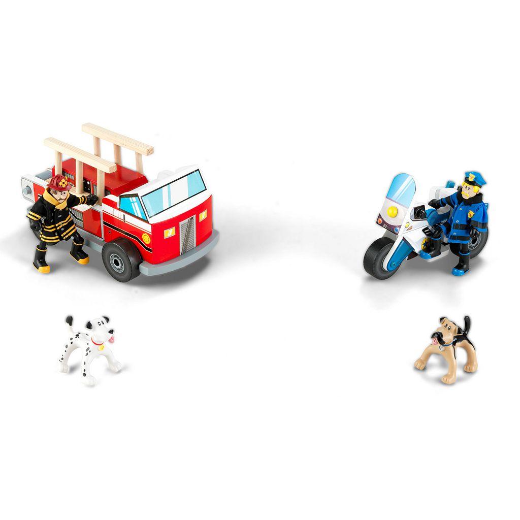 KidKraft Everyday Heroes Police & Fire Set