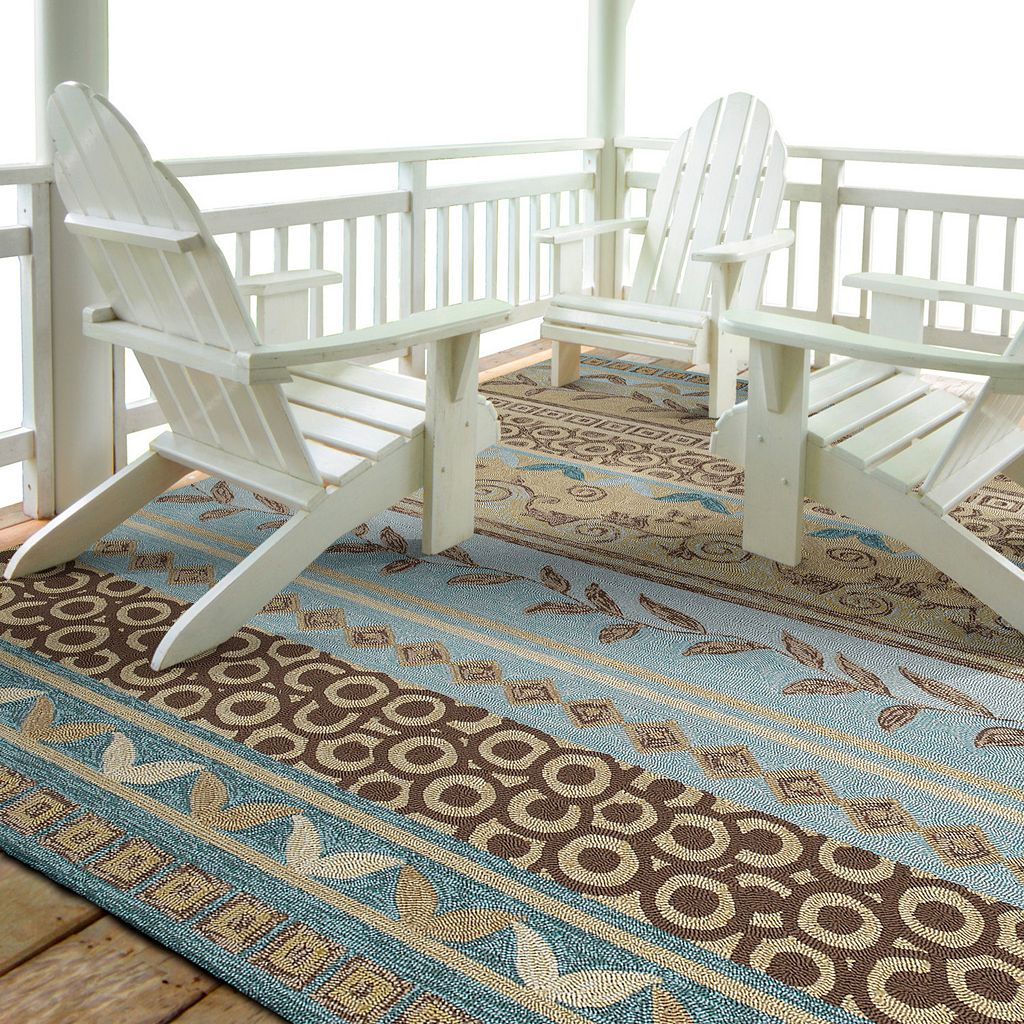 Kaleen Home & Porch Idle Hour Striped Indoor Outdoor Rug