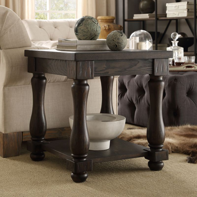HomeVance Byers End Table, Brown