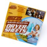 Sizzl Bacon Scented Dryer Sheets Prank Gift Box