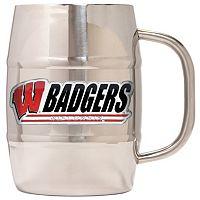 Wisconsin Badgers Stainless Steel Barrel Mug
