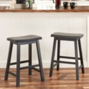 HomeVance 2-piece Reagan Saddle Counter Stool Set