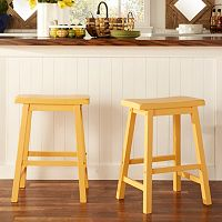 HomeVance 2 pc Reagan Saddle Counter Stool Set