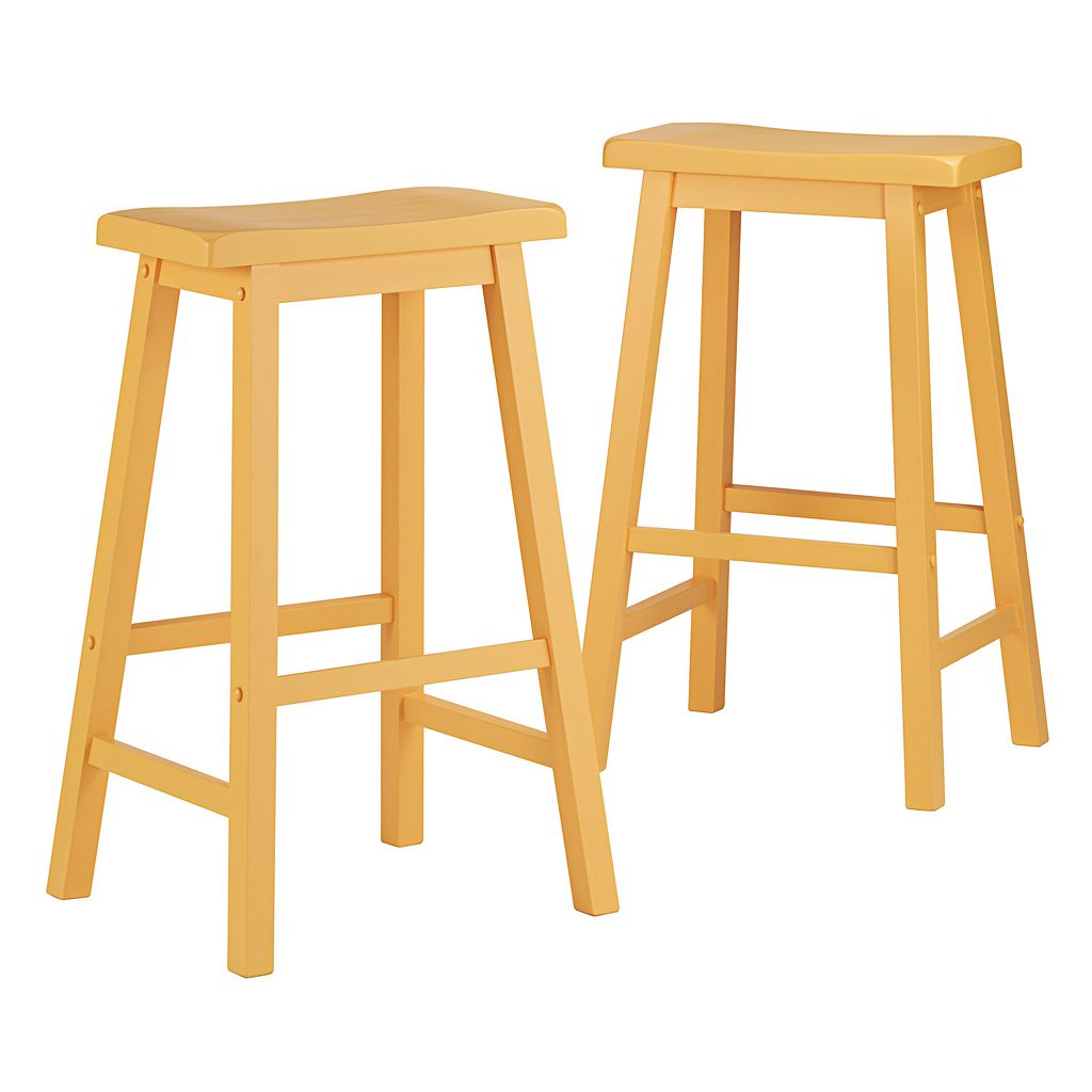 HomeVance 2-piece Reagan Saddle Bar Stool Set