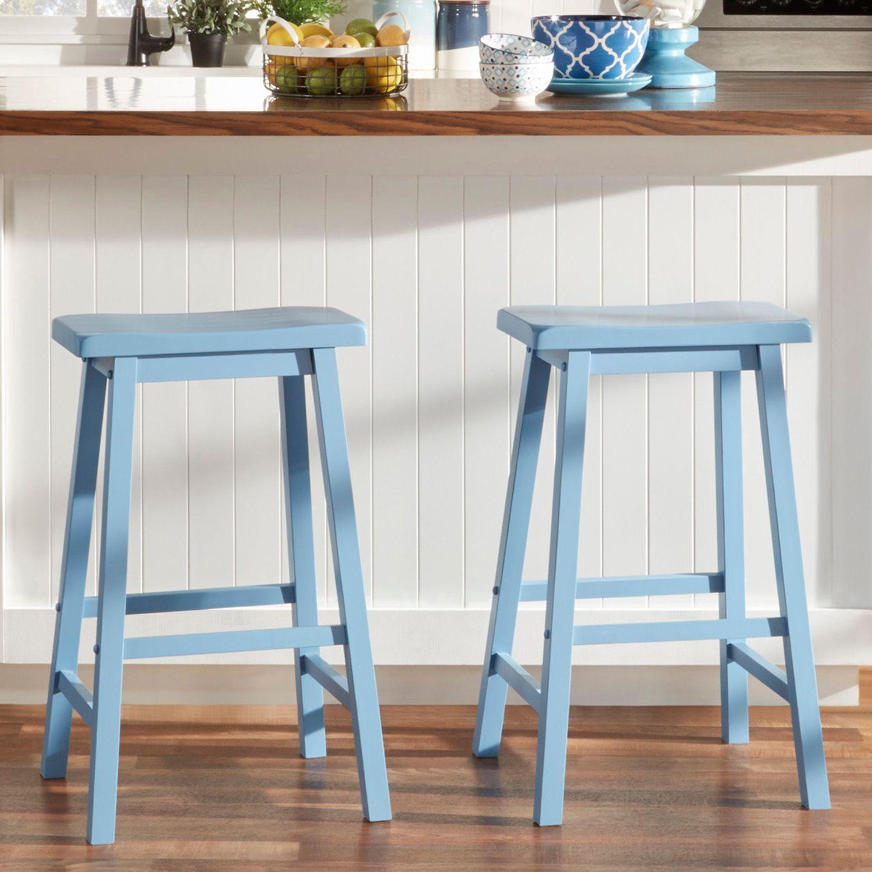homevance 2piece reagan saddle bar stool set