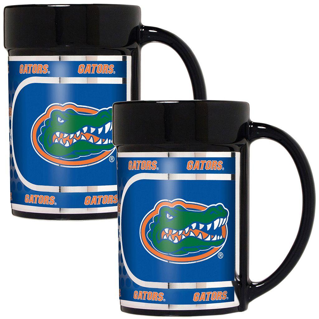 Florida Gators 2-Piece Ceramic Mug Set with Metallic Wrap
