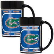 Florida Gators 2 pc Ceramic Mug Set with Metallic Wrap