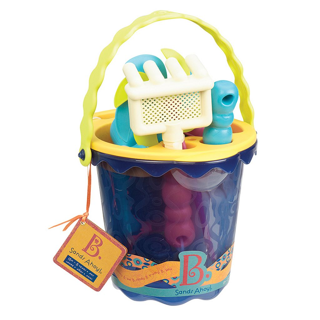Battat B. 9-pc. Sands Ahoy Medium Beach Bucket Set