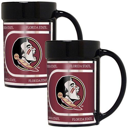 Florida State Seminoles 2-Piece Ceramic Mug Set with Metallic Wrap