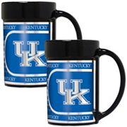 Kentucky Wildcats 2 pc Ceramic Mug Set with Metallic Wrap