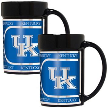 Kentucky Wildcats 2-Piece Ceramic Mug Set with Metallic Wrap