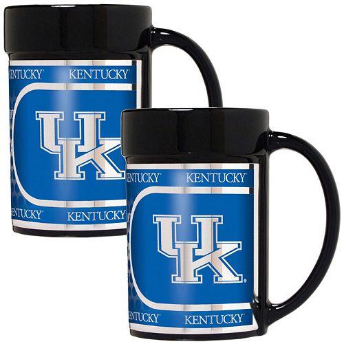Kentucky Wildcats 2-Piece Ceramic Mug Set with Metallic Wrap