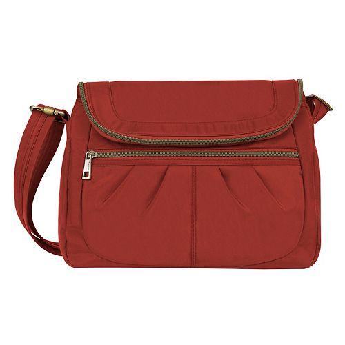 Travelon Anti-Theft Signature Flap Compartment Crossbody Bag