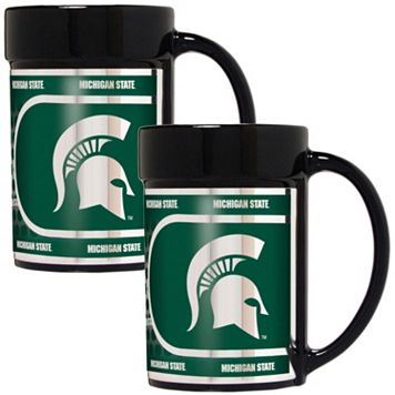 Michigan State Spartans 2-Piece Ceramic Mug Set with Metallic Wrap