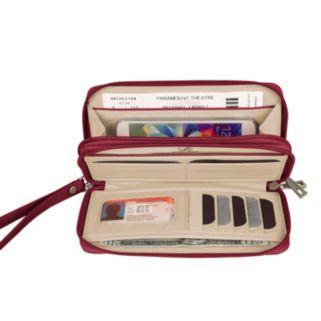 Travelon Signature RFID-Blocking Double Zip Clutch Wallet