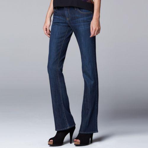 Vera Vera Wang Modern Fit Bootcut Jeans - Women's