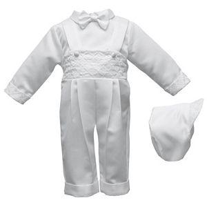 American Originals Embroidered Overalls & Shirt Set - Baby Boy