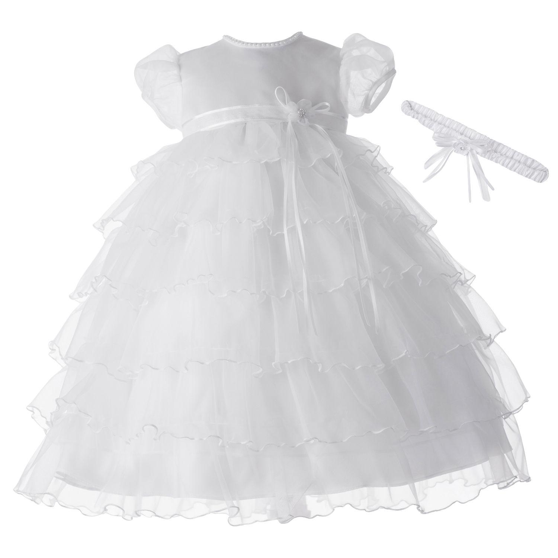 9 12 month white dress lo back
