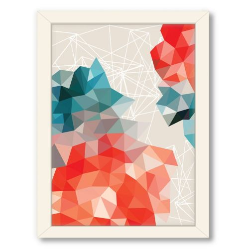 Americanflat Urban Road Geometric Framed Wall Art
