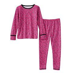 Toddler Girl Cuddl Duds COMFORTECH Long Underwear Set