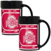 Ohio State Buckeyes 2-Piece Ceramic Mug Set with Metallic Wrap