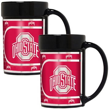 Ohio State Buckeyes 2-Piece Ceramic Mug Set with Metallic Wrap