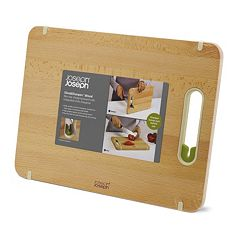 Joseph Joseph Slice & Sharpen Large Wooden Chopping Board
