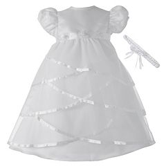 American Originals Criss-Cross Satin Dress - Baby Girl