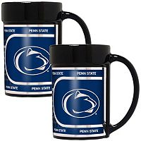 Penn State Nittany Lions 2 pc Ceramic Mug Set with Metallic Wrap