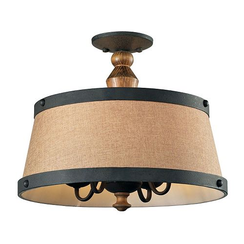 Elk Lighting Early American 4 Light Shaded Pendant
