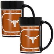 Texas Longhorns 2 pc Ceramic Mug Set with Metallic Wrap