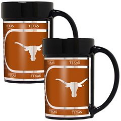 Texas Longhorns 2 pc Ceramic Mug Set with Metallic Wrap