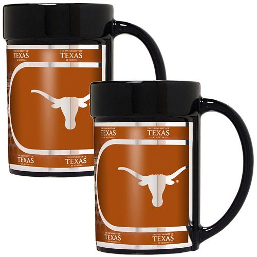Texas Longhorns 2-Piece Ceramic Mug Set with Metallic Wrap