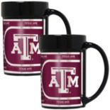 Texas A&M Aggies 2-Piece Ceramic Mug Set with Metallic Wrap