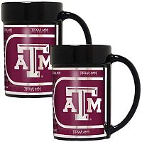 Texas A&M Aggies 2 pc Ceramic Mug Set with Metallic Wrap