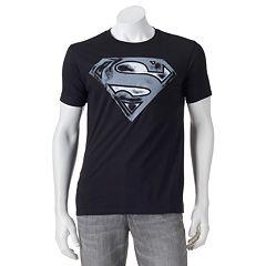 Men's Superman Distressed Logo Tee