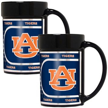 Auburn Tigers 2-Piece Ceramic Mug Set with Metallic Wrap
