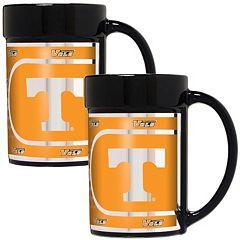 Tennessee Volunteers 2 pc Ceramic Mug Set with Metallic Wrap