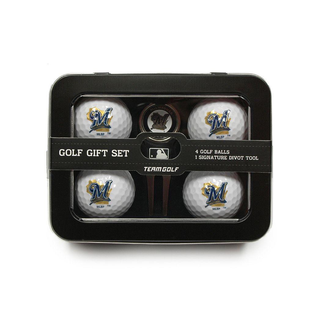 Team Golf Milwaukee Brewers 6-Piece Golf Gift Set