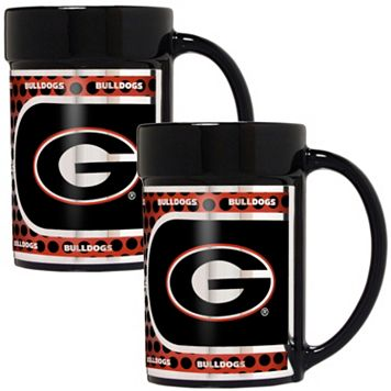 Georgia Bulldogs 2-Piece Ceramic Mug Set with Metallic Wrap