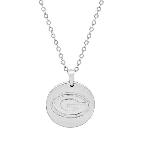 Green Bay Packers Sterling Silver Reversible Pendant Necklace