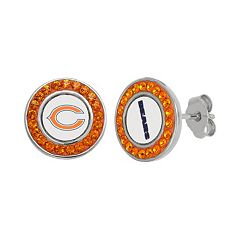 Chicago Bears Crystal Team Logo Stud Earrings