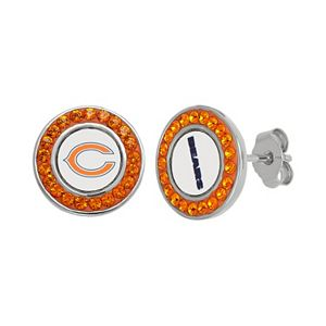Chicago Bears Sterling Silver Reversible Pendant Necklace Regular