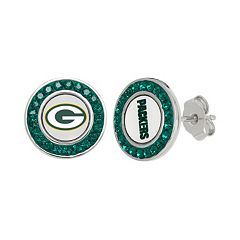 Green Bay Packers Crystal Team Logo Stud Earrings