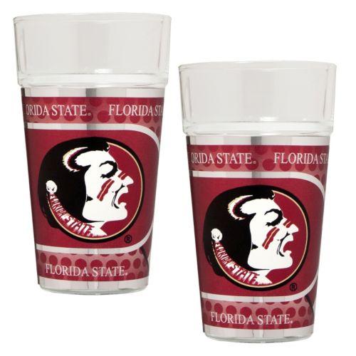 Florida State Seminoles 2 Piece Pint Glass Set